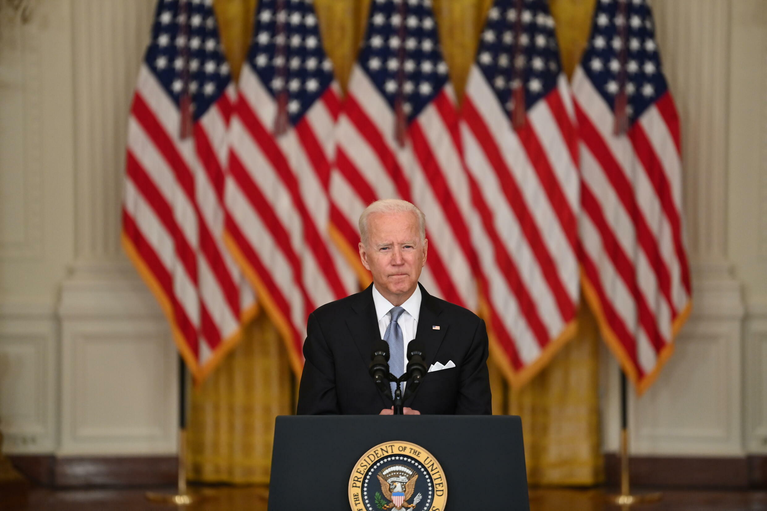 US President Joe Biden defended his decision to pull US troops out of Afghanistan
