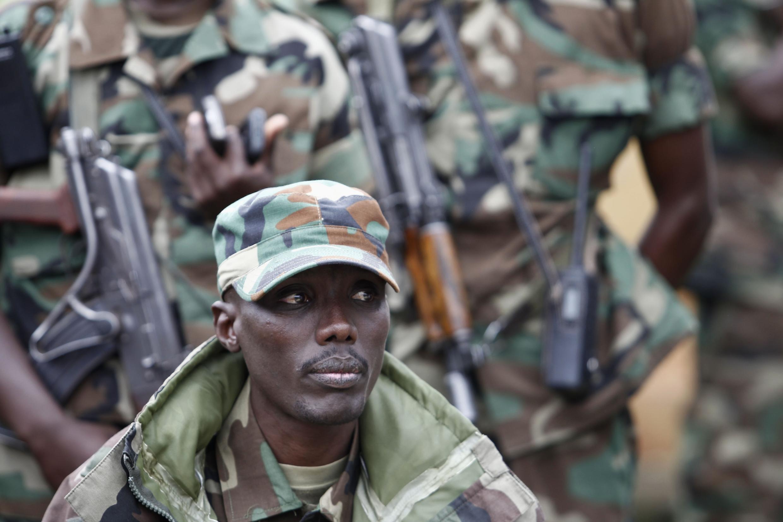 Le chef militaire de M23, Sultani Makenga, à Bunagana dans l'Est du Congo le 3 janvier 2013.