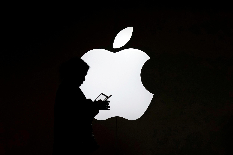 Logo Apple trước một cửa hàng ở Thượng Hải, Trung Quốc. Ảnh ngày 30/07/2017