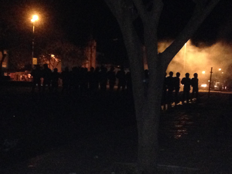 Ninjas foram mobilizados para dispersar a manifestação.