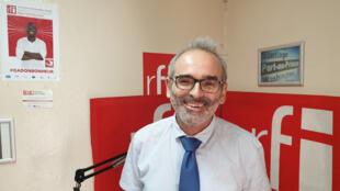 Pascal Hajaali, le directeur de l'Institut Français en Haïti, au studio de RFI à Port-au-Prince.
