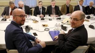 Primeiro-ministro belga, Charles Michel, recebeu lideranças religiosas para debater sobre o combate ao terrorismo, nesta sexta-feira (22).