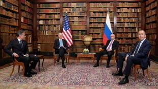 美俄首脑及两国外长资料图片