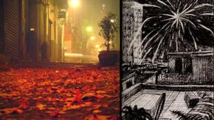 Illustration tirée de Écouter les pétards et les feux d'artifice de Naples avec Olivier Féraud.