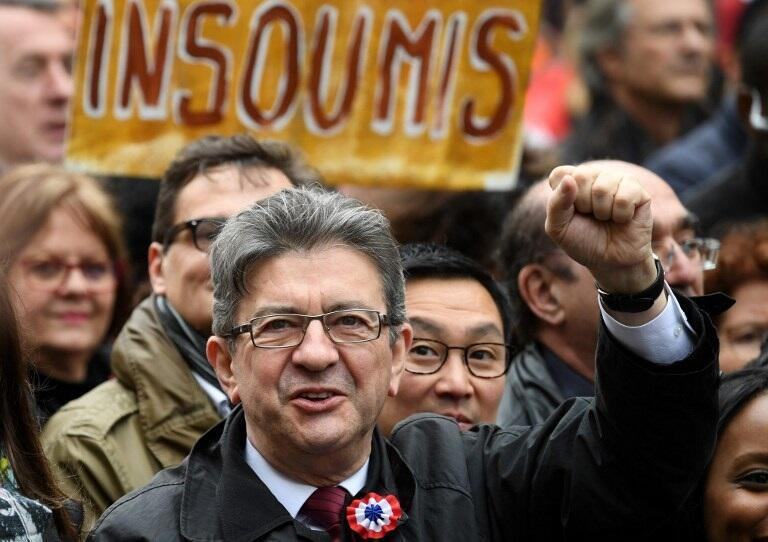 Парижский «Марш за VI Республику» кандидата от французских крайне левых Жан-Люка Меланшона, 18 марта 2017 года