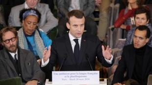 Francophonie : discours d'Emmanuel Macron sur la langue française et le plurilinguisme, à l'Accadémie française le 20 mars 2018