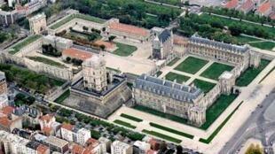 Vue aérienne du château de Vincennes.