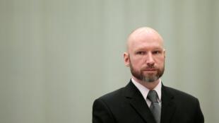 O terrorista neonazista norueguês Anders Behring Breivik