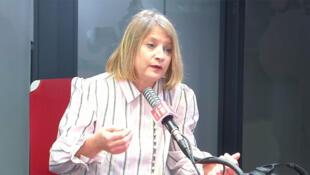 Карин Лакомб в студии RFI 13 марта 2020 г.