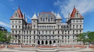Le Albany Capitol, siège des parlements de l'État de New York.