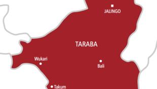 Taswirar Taraba a Najeriya, jihar da kabilar Yandang ke zaune.