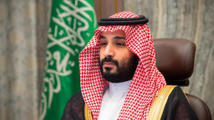 A handout picture provided by the Saudi Royal Palace on November 12, 2020, shows Saudi Crown Prince Mohammed bin Salman attending a video meeting with the Shura council in the capital Riyadh