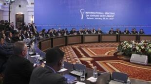 Hòa đàm Syria tại Astana, Kazakhstan. Ảnh ngày 23/01/2017.