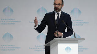 French Prime Minister Edouard Philippe speaks during the World Government Summit in Dubai