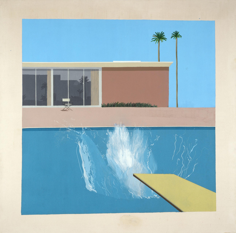 « A Bigger Splash » (Détail), 1967, Acrylique sur toile, 242,50 x 243,90 x 3 cm.