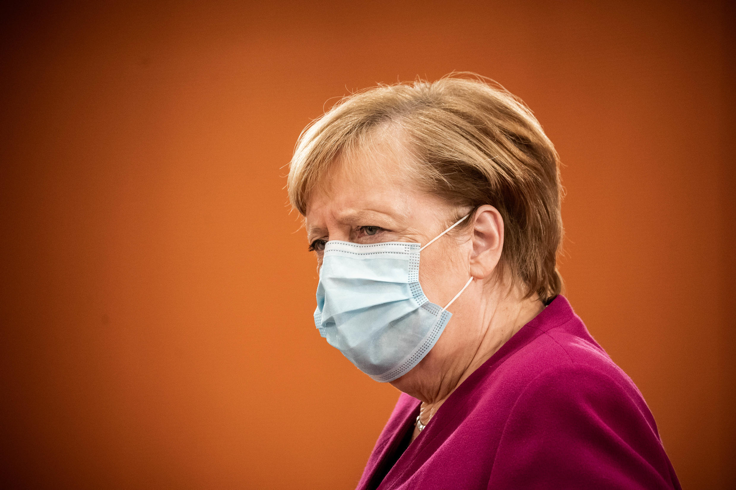 German Chancellor Angela Merkel meets with the leaders of federal states to discuss new restrictions to curb the spread of Covid-19, 14 October 2020