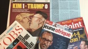 Capas de semanários sobre actualidade africana e mundial de 16/06/2018