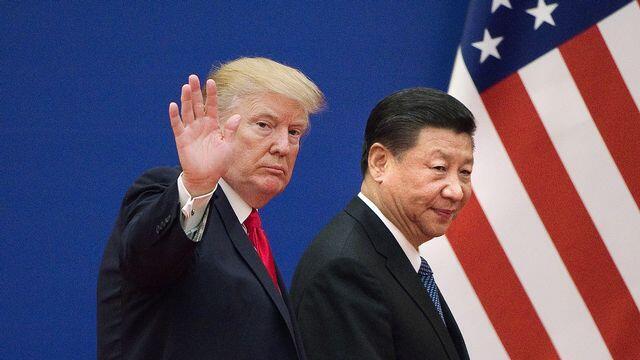 美國總統特朗普與中國國家主席習近平資料圖片