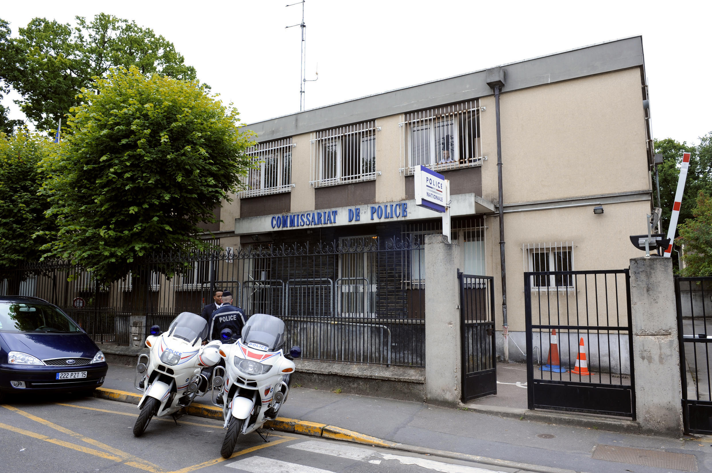 The police station of Aulnay-sous-Bois, near Paris.