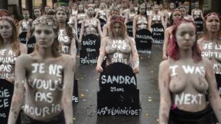 Акция Femen на кладбище Монпарнас, 5 октября 2019 года
