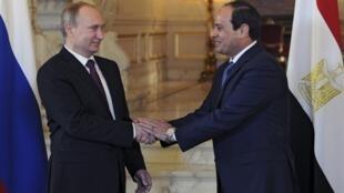Владимир Путин и Абдель Фаттах ас-Сиси в Каире, 10 февраля 2015.
