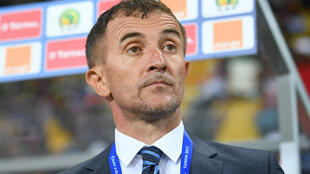 Milutin Sredojevic during the 2017 Africa Cup of Nations match between Egypt and Uganda