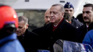 Le président turc Recep Tayyip Erdogan à Bruxelles, le 9 mars 2020.