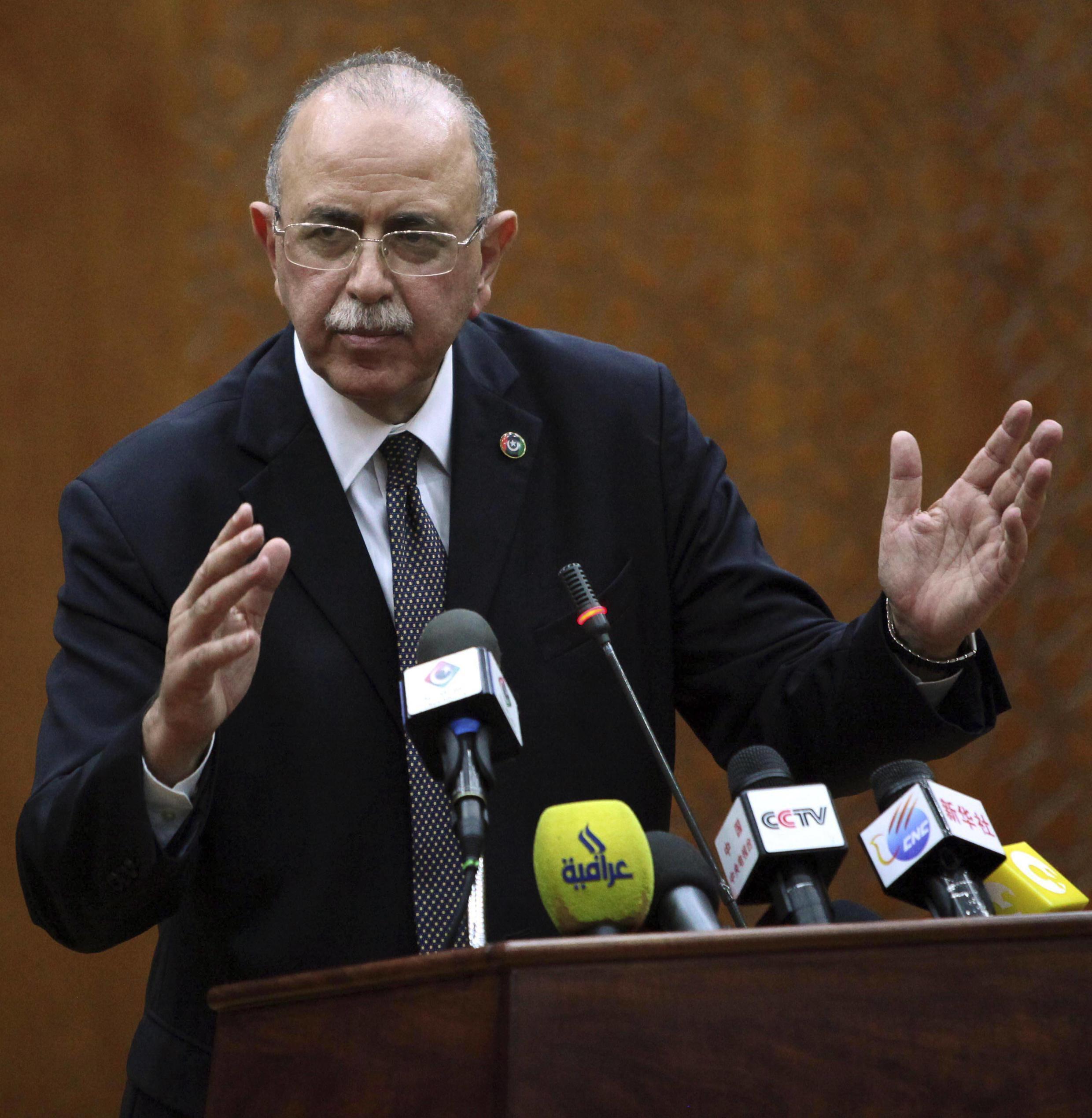 Libya's newly elected Prime Minister Abdurrahim el-Keib