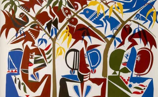 Hussein MADI, Jardin d'Eden 1, 2006. Original Lithography, Collection France & Claude Lemand