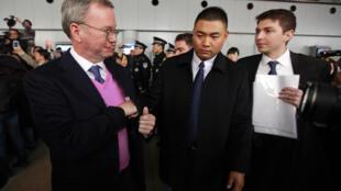 Visita do presidente da Google, Eric Schmidt , à Coreia do Norte.