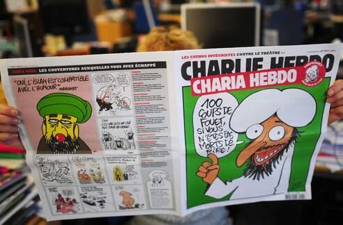 Portada de Charlie Hebdo, con el título 'Sharia Hebdo'.