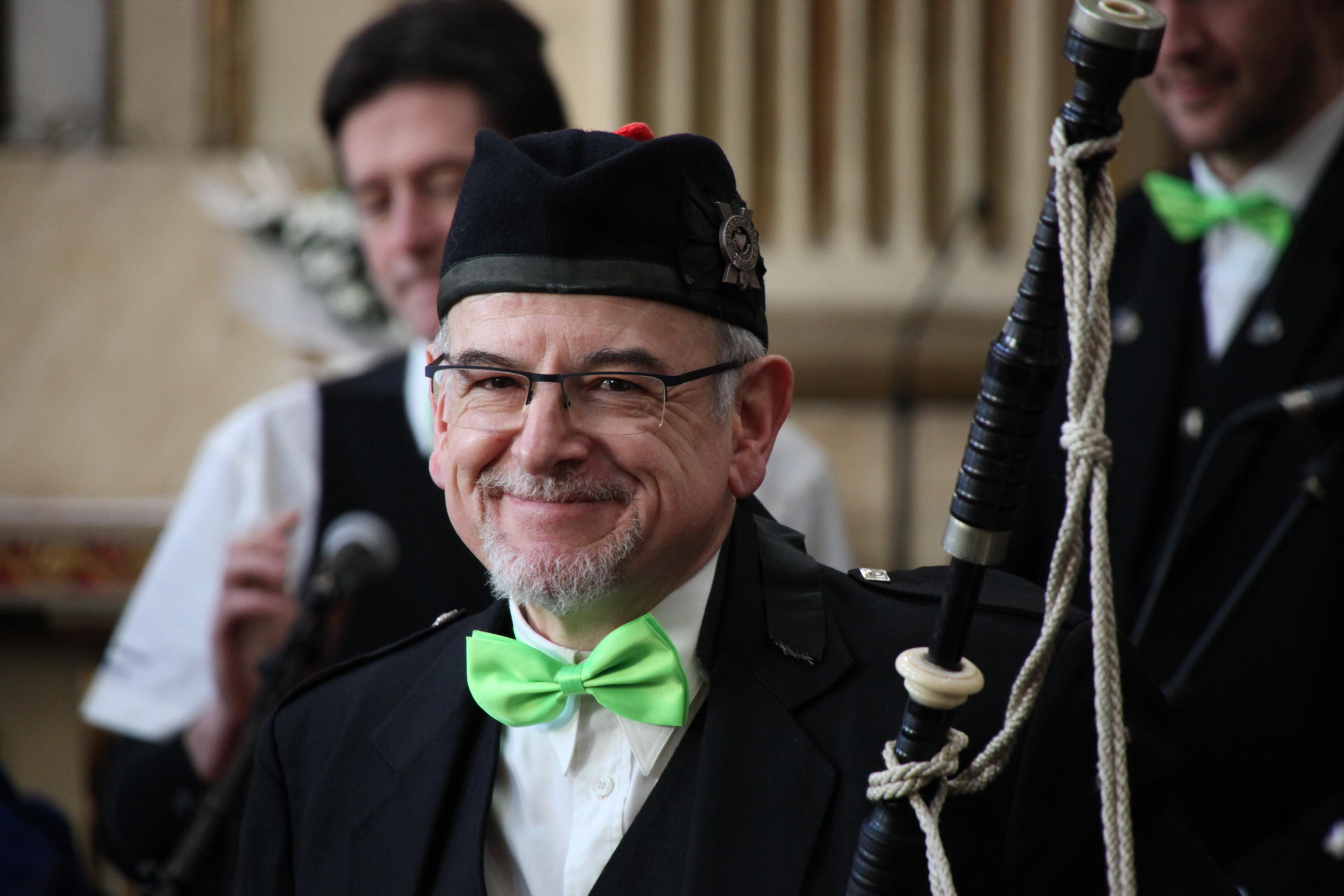 Scottish bagpipes are ingrained in Irish culture, and provide music for the procession