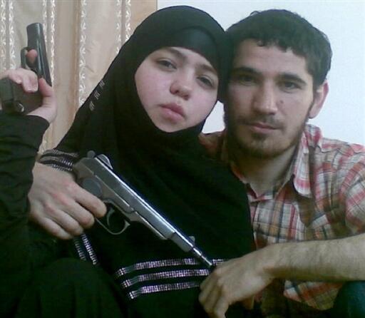 Dzhennet Abdurakhmanova poses before the bombing