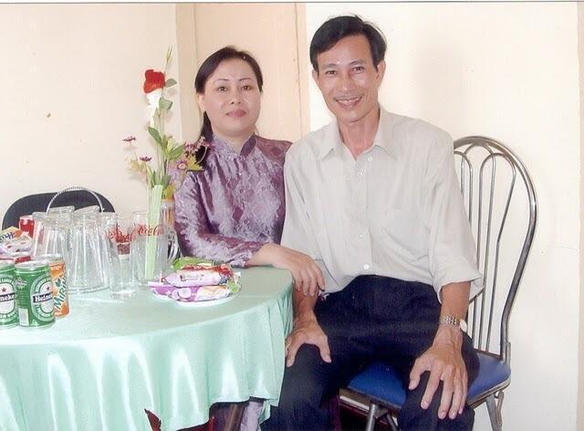 Bà Dương Thị Tân và ông Nguyễn Văn Hải (blogger Điếu Cày). DR