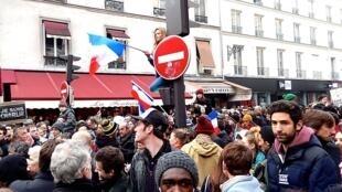 Manifestação do dia 11 de janeiro, em Paris.