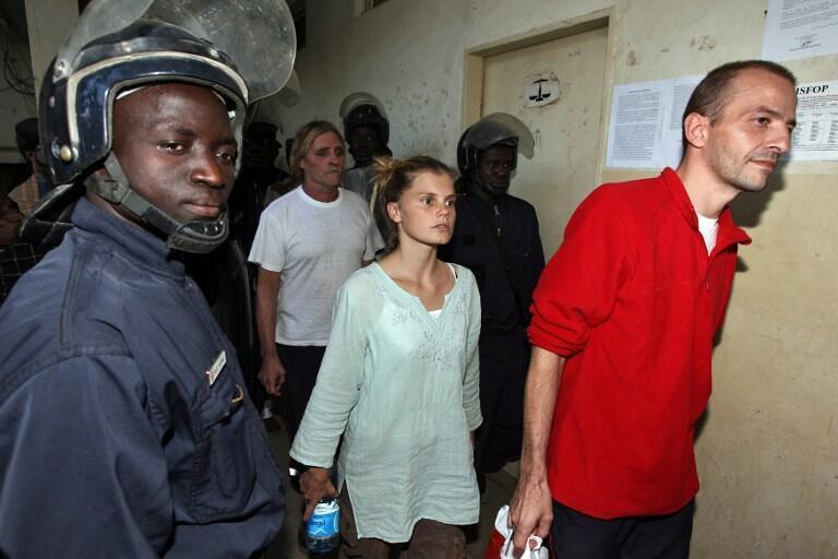 Alain Peligat,  Emilie Lelouch et Eric Breteau en 2007 à Ndjamena.