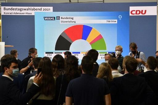 德国大选 2021年9月26日 基民盟柏林党部
