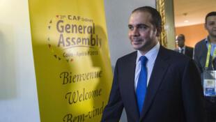 Le prince Ali, candidat à la présidence de la Fifa, s'était rendu au Caire en avril 2015, pour une réunion de la CAF.