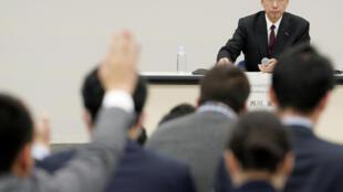 Hiroto Saikawa, numéro un de Nissan, en conférence de presse le 24 janvier 2019 à Yokohama, dans le sud du Japon.
