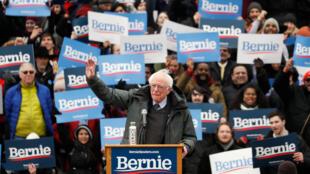 Candidat à l'investiture démocrate pour la présidentielle de 2020, Bernie Sanders a définitivement lancé la course à Brooklyn le 2 mars 2019.
