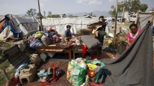 Vítimas da monção no Nepal