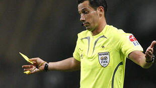 O árbitro português Pedro Proença que dirige a final do EURO em Kiev.
