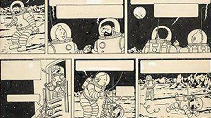 """تصویر قسمتی از صفحه داستان """"روی ماه قدم گذاشتیم""""."""