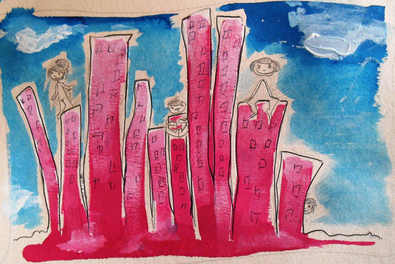 Dessin réalisé à partir de «Ecouter Paris à la Cité Rose».