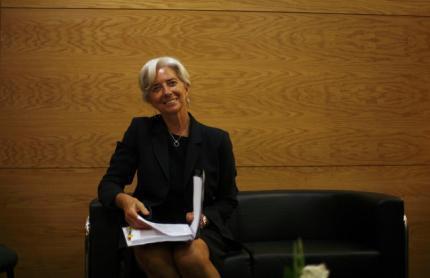 A Ministra da Economia, Christine Lagarde, passou por sabatina no FMI.
