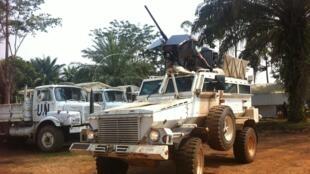 Kikosi cha askari wa umoja wa mataifa nchini DRC Monusco kutoka Malawi kikipiga doria pembezoni mwa mji wa Oicha kilometa 4 na kambi ya UN