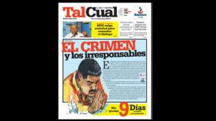 """Jornal venezuelano da oposição """"Tal Cual"""" só tem papel para imprimir por mais oito dias, até 23 de outubro de 2014."""