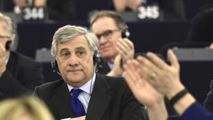 Ông Antonio Tajani, người Ý, được bầu làm chủ tịch Nghị Viện Châu Âu, Strasbourg, ngày 17/01/2017