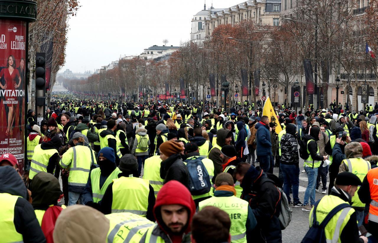 Yellow Vest protestors, Paris.