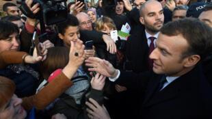 Le président français Emmanuel Macron à Tourcoing, où il a présenté sa politique de la Ville, le 14 novembre 2017.